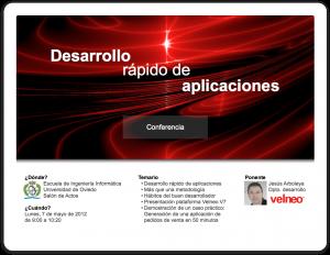 Desarrollo rápido de aplicaciones con Velneo