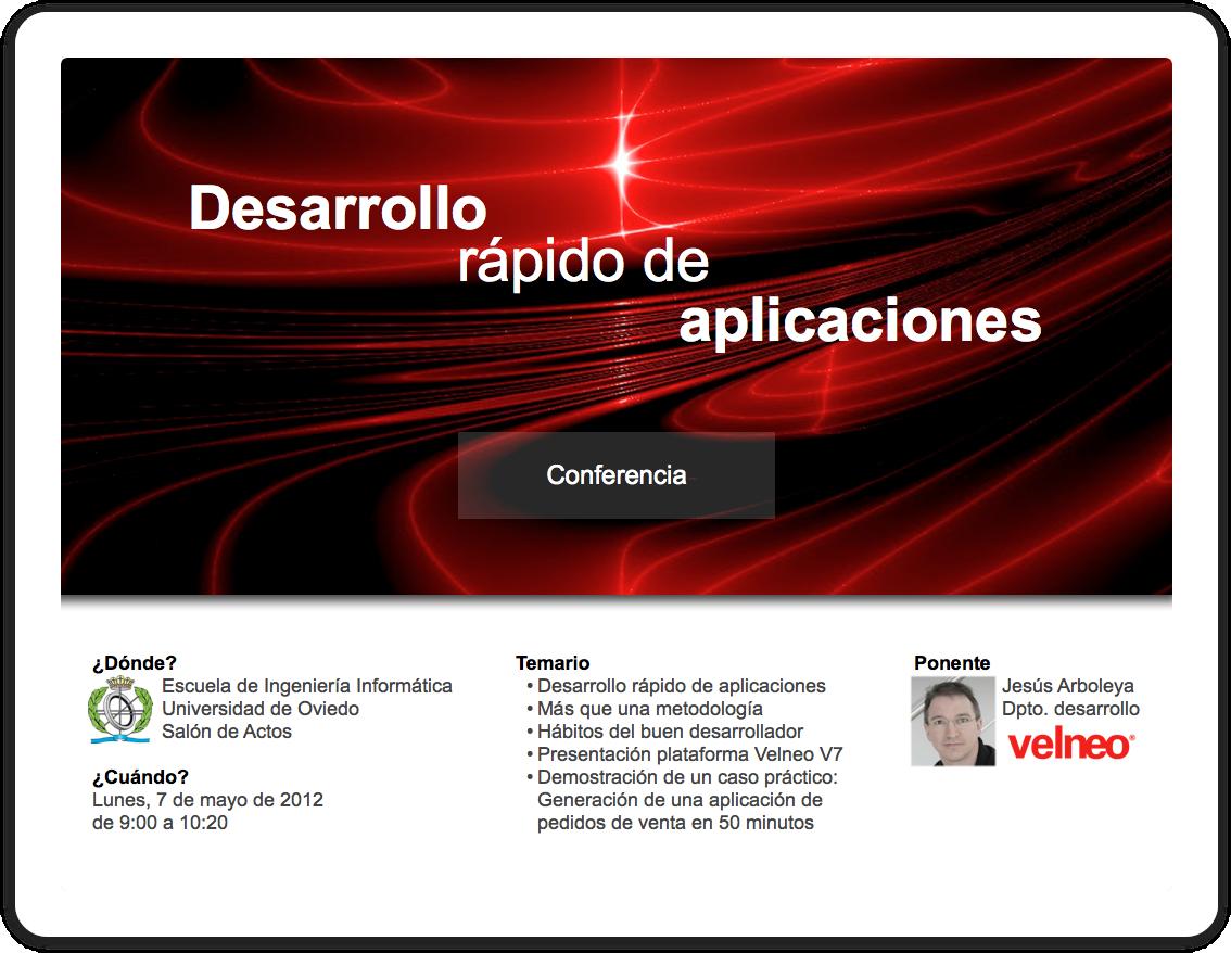 Desarrollo rápido de aplicaciones con Velneo V7
