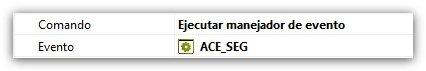 Comando ejecutar manejador de evento ACE_SEG