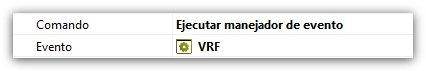 Comando ejecutar manejador de evento VRF