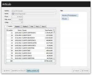 Deshabilitar controles de formulario con CSS en Velneo