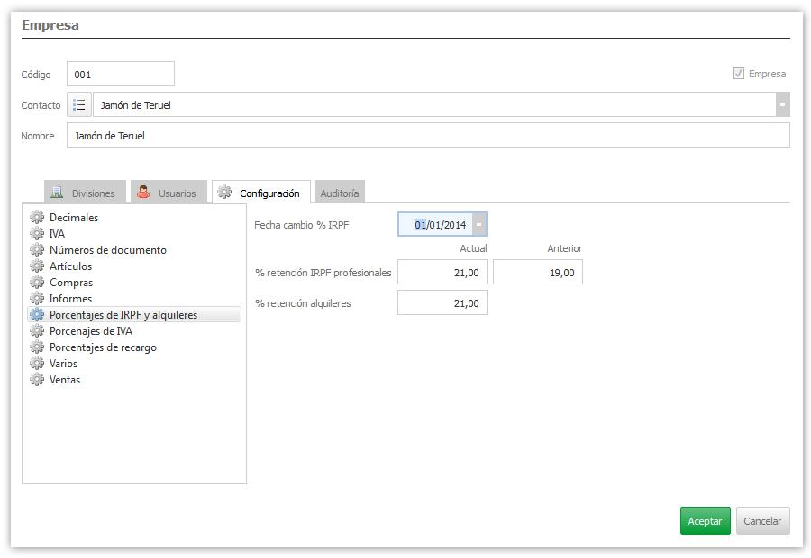 Formulario en  ejecución con interfaz de subformularios sincronizados con listbox
