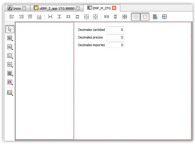 Formulario en edición con el control listbox y la pila de formularios sincronizada