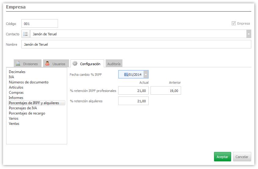 Formulario en  ejecución con intefaz de subformularios sincronizados con listbox