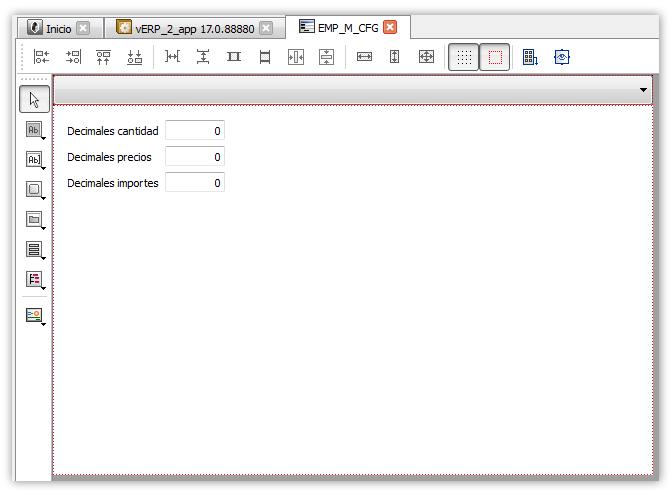 Formulario en edición con el control combobox y la pila de formularios sincronizada