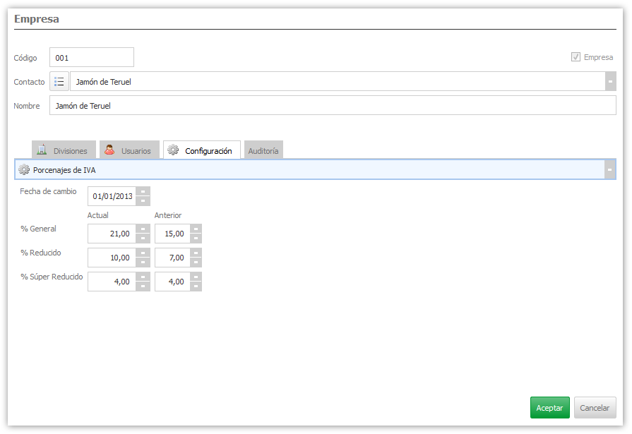 Formulario en  ejecución con interfaz de subformularios sincronizados con combobox