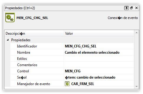 Manejador de cambio de elemento seleccionado en el combobox