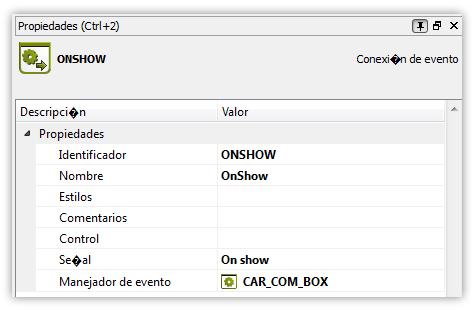 Manejador onShow sincornización combbox y pila de formularios